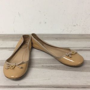 Tory Burch Cream Patent Leather Ballerina Flat 7